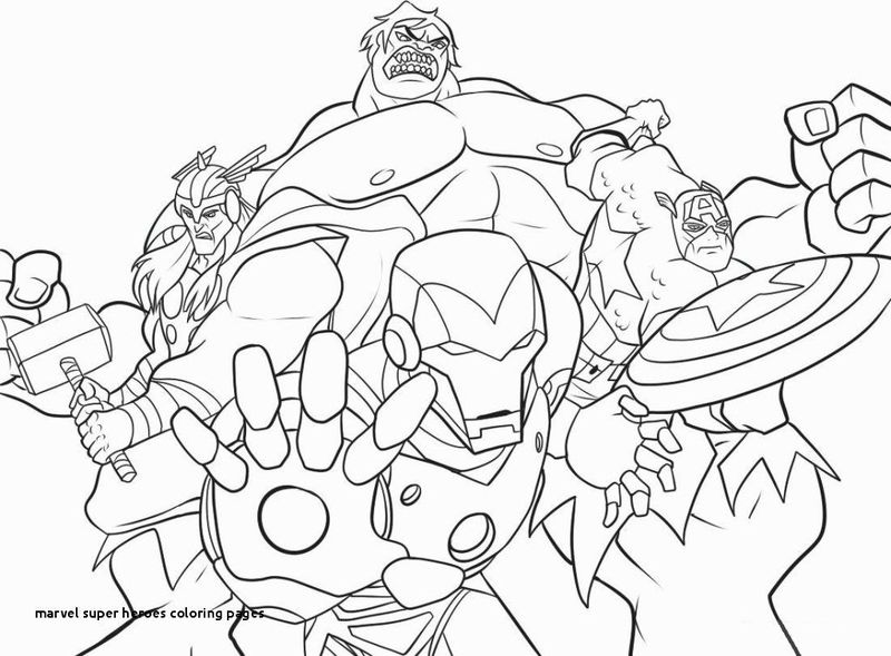 marvel coloring page free