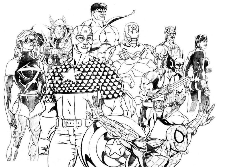 marvel coloring pages child