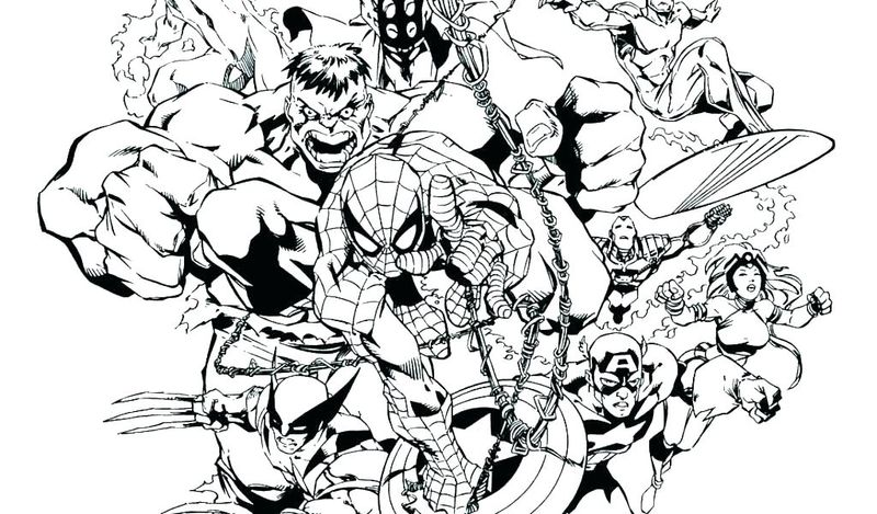 marvel comic coloring page