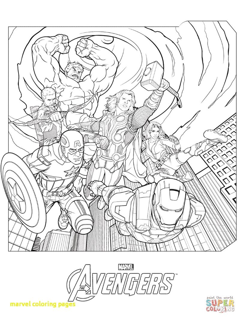 marvel infinity war coloring page