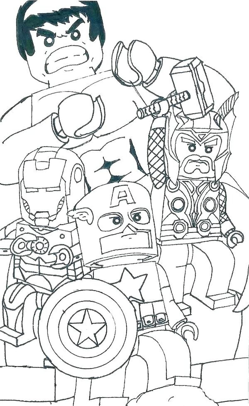 marvel logo coloring page