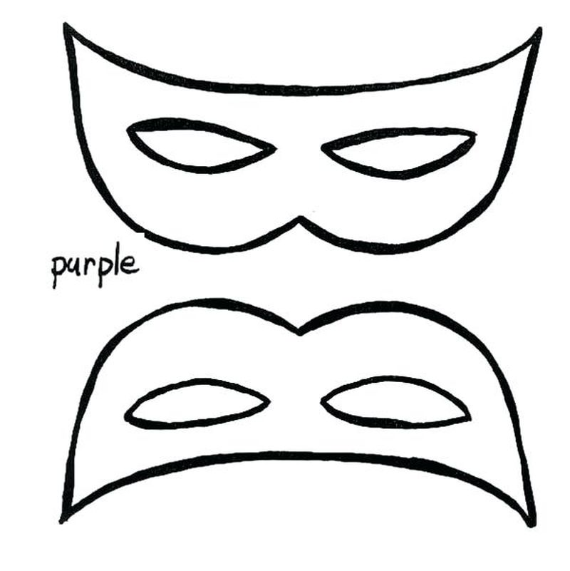mask coloring page cut out