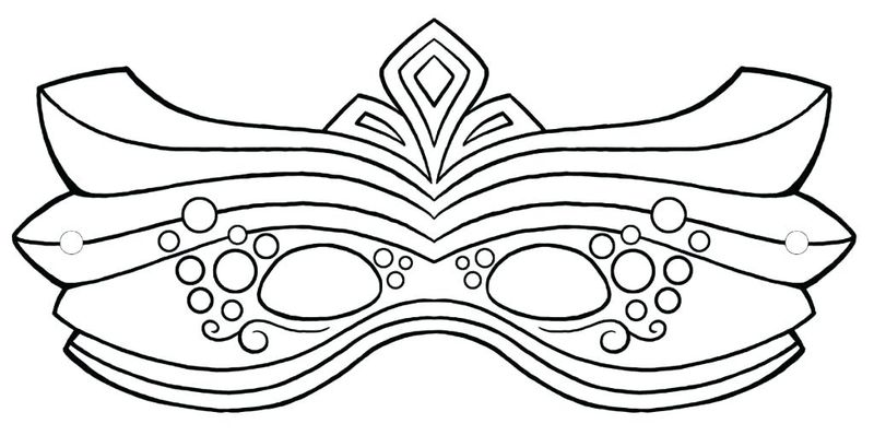 mask coloring pages colored