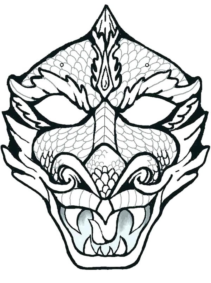 mask coloring pages to print