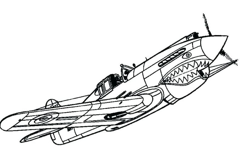military planes coloring pages