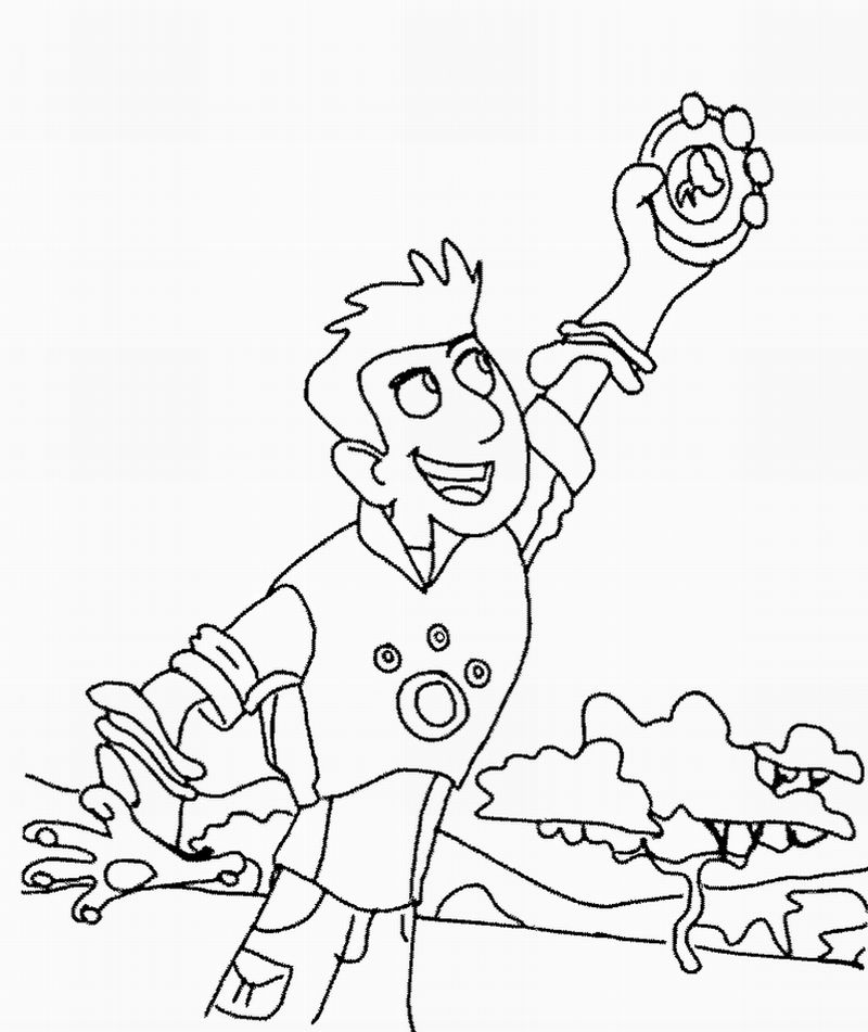 momjunction wild kratts coloring pages