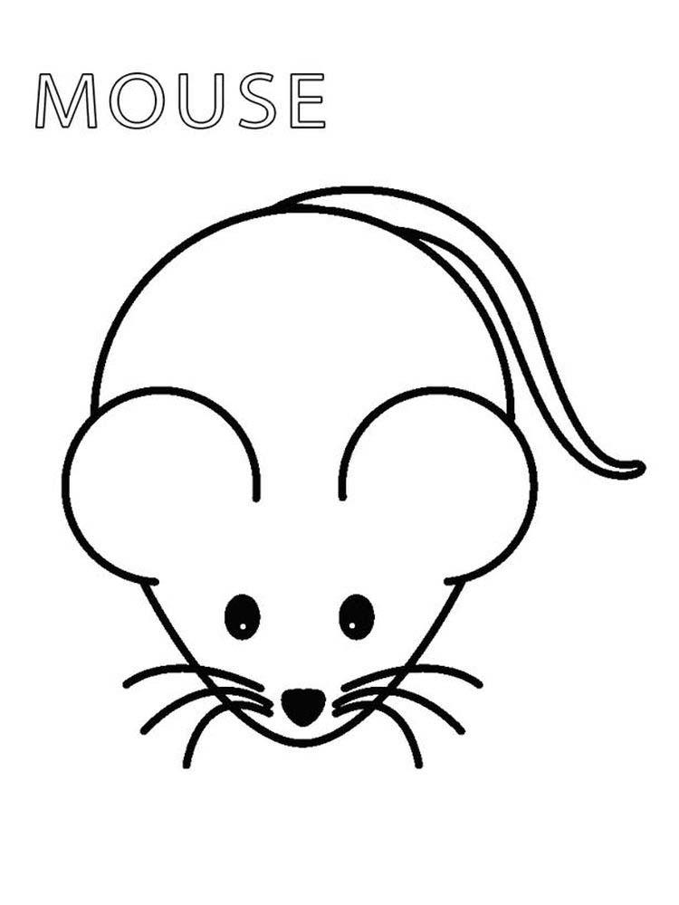 mouse a cookie coloring page printable