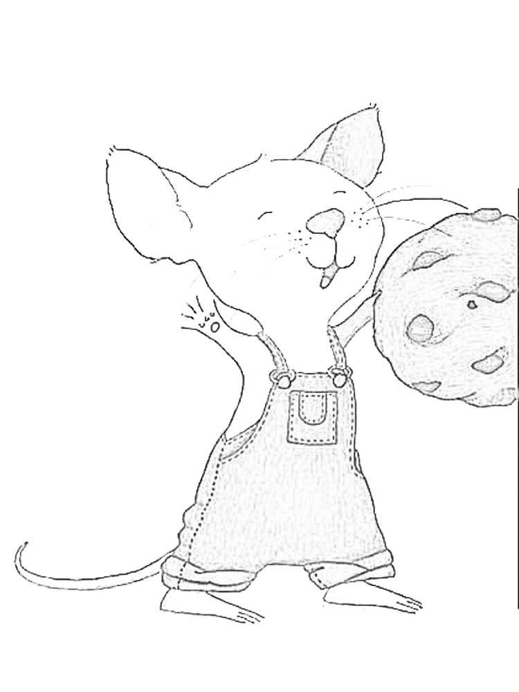 mouse coloring page adults printable