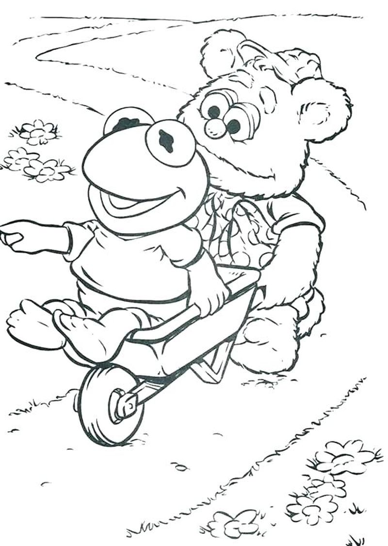 muppet babies coloring pages gonzo