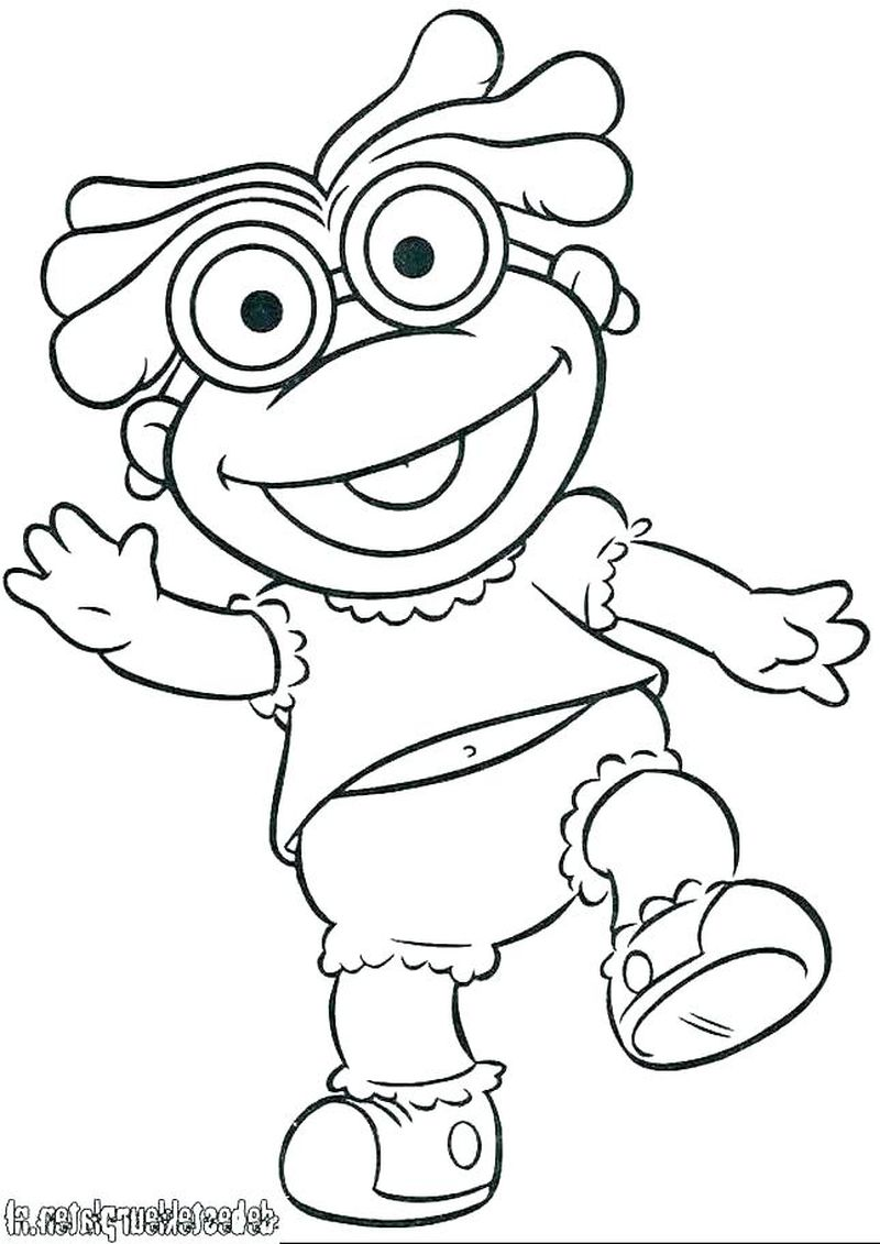 muppet babies halloween coloring pages