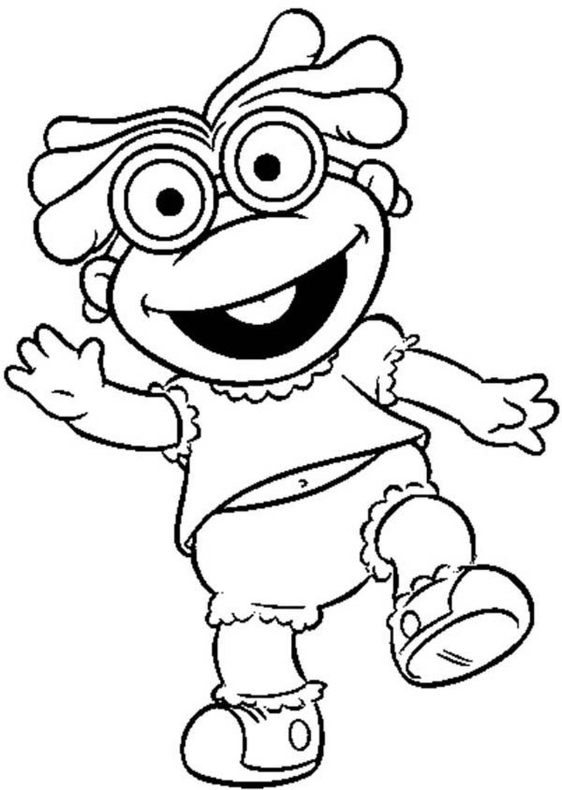 muppet babies miss piggy coloring pages