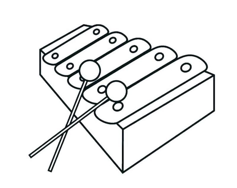 music blank coloring pages