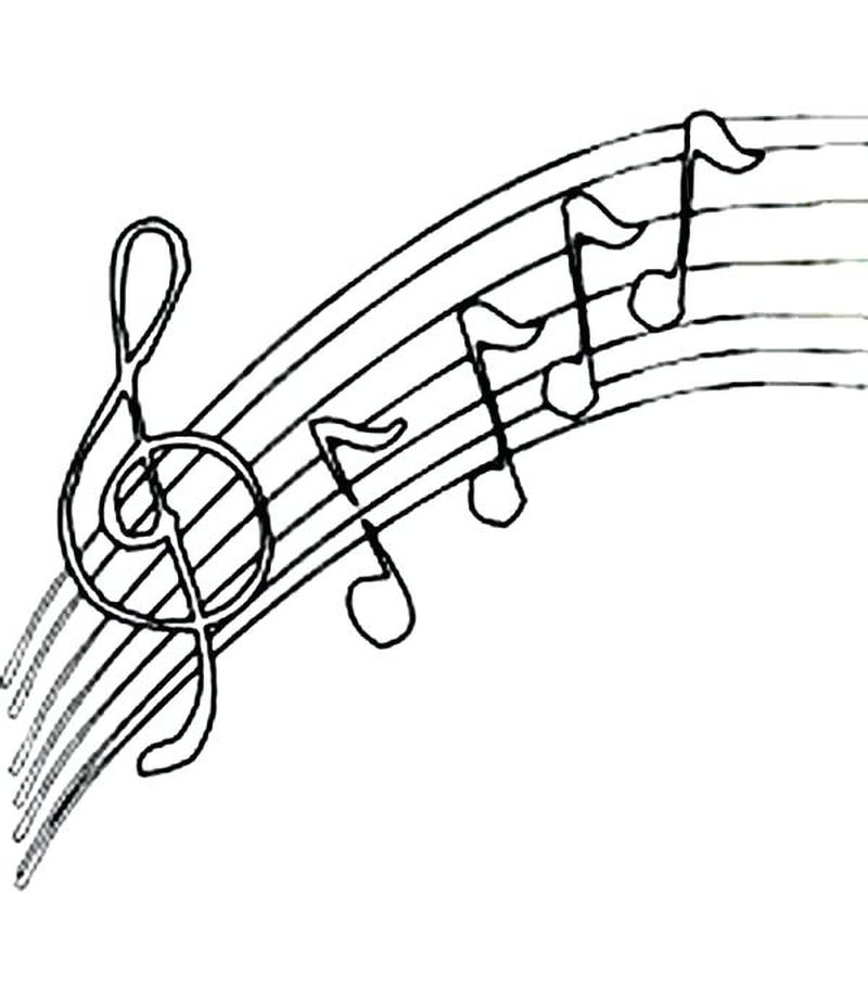 music coloring pages preschool