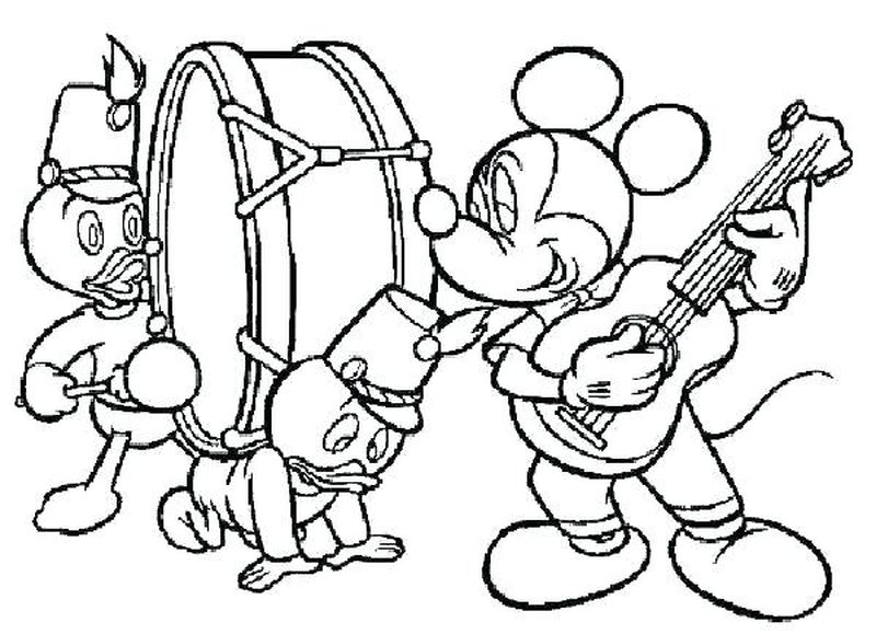 music coloring sheets for preschool