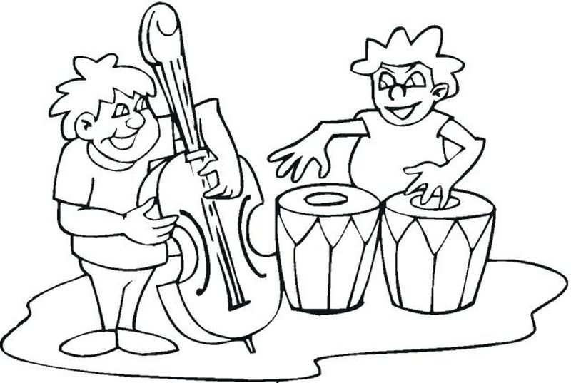 music colouring pages for adults
