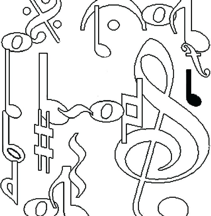 music notation coloring pages