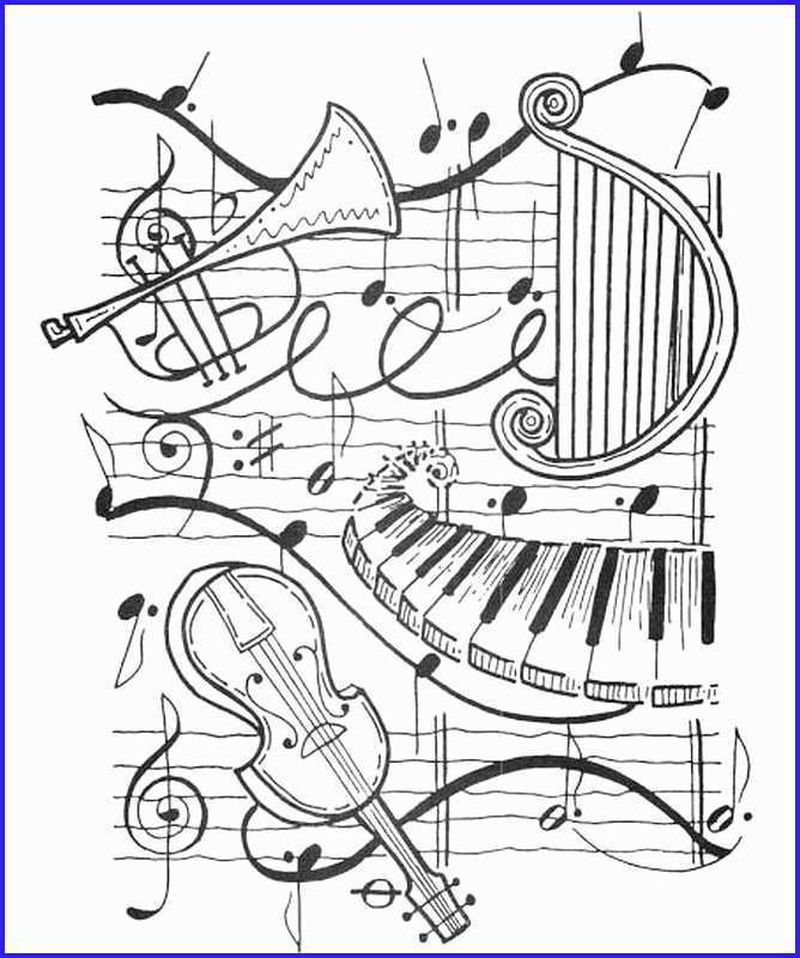 music notes coloring pages for adults