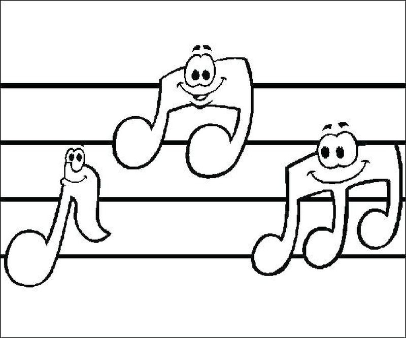 music notes coloring pages print