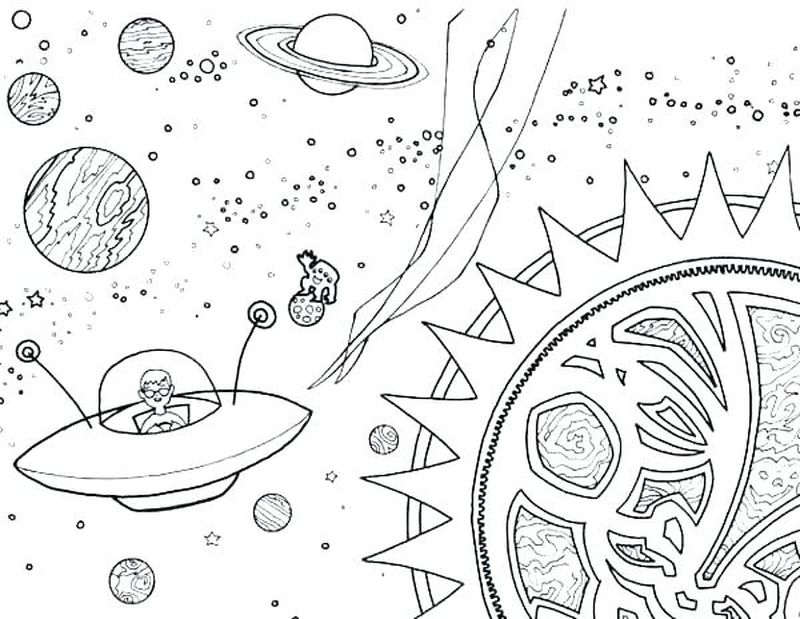 outer space online coloring pages