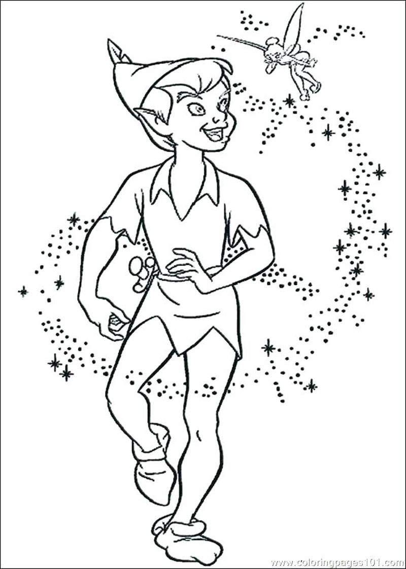peter pan 2 coloring pages