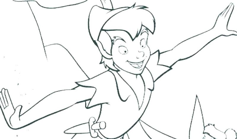 peter pan coloring book pages