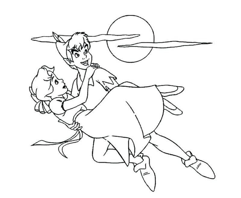 peter pan coloring pages free print