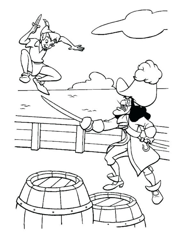 peter pan coloring pages to print