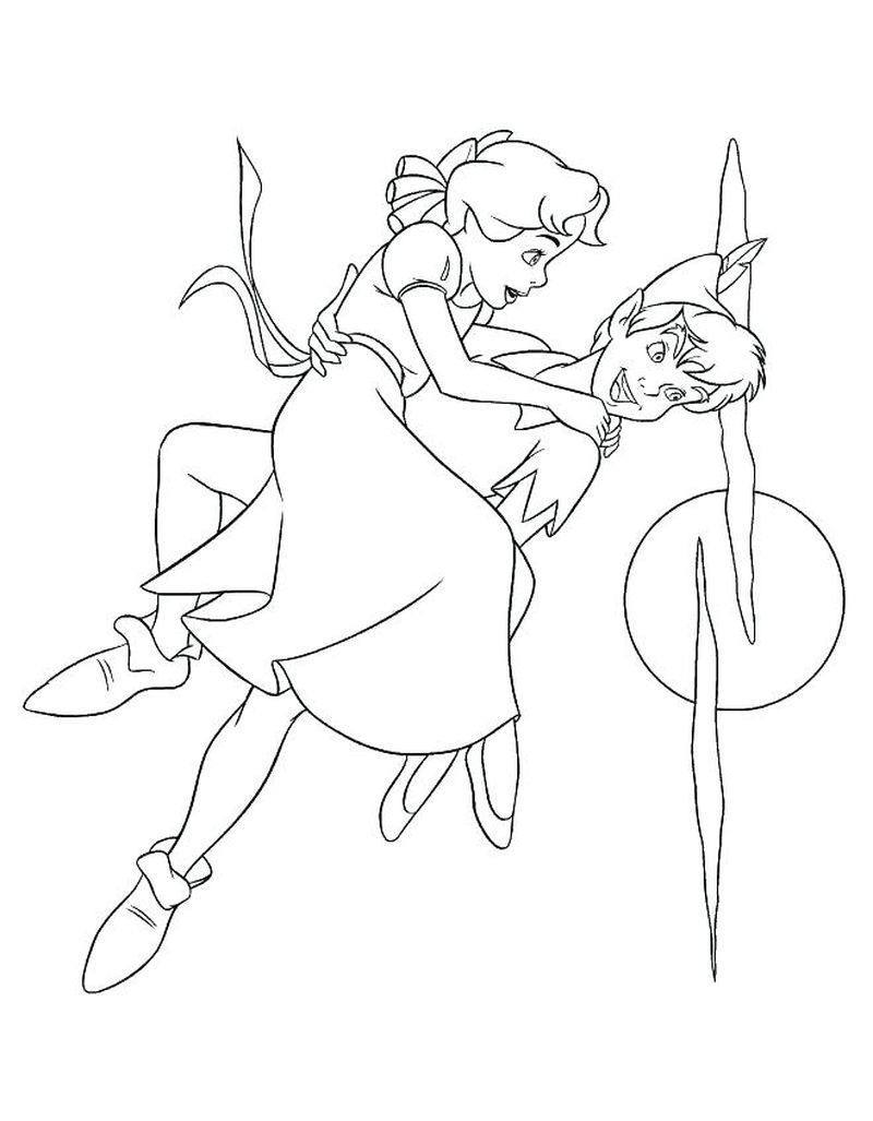 peter pan coloring pictures to print
