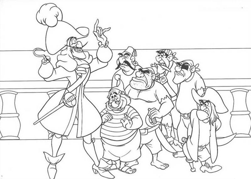 peter pan colouring pages printable