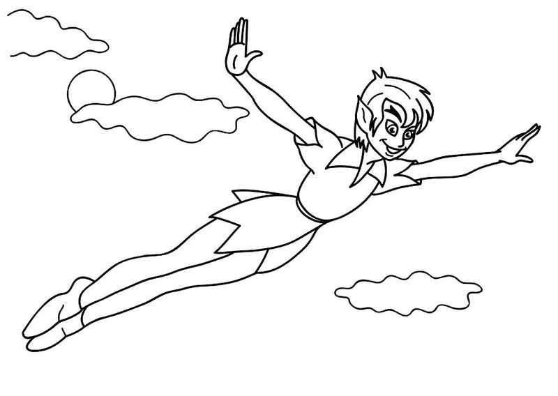 peter pan colouring pages