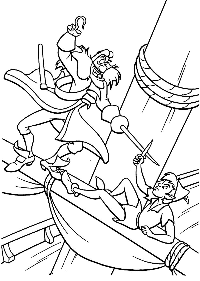 peterpan coloring page