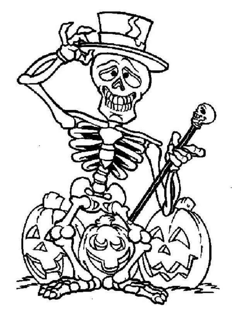 pikachu skeleton coloring pages