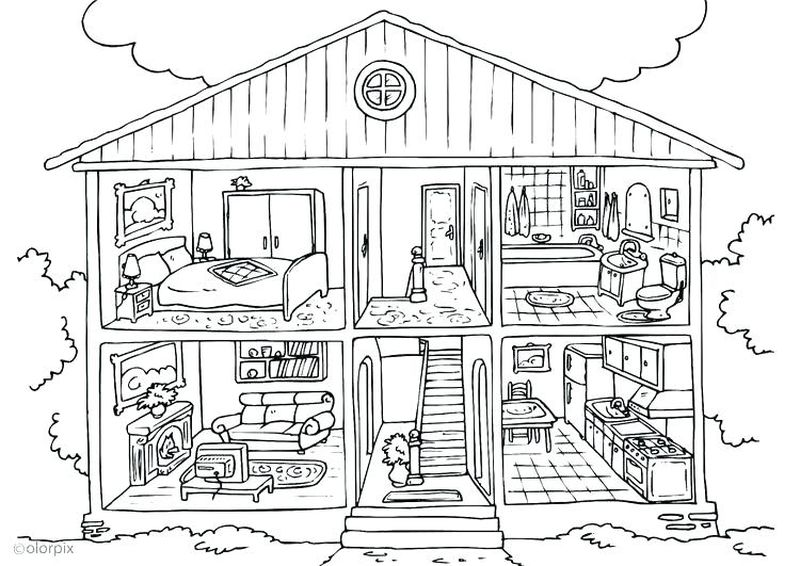 pixar up house coloring pages Printable