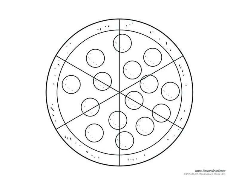 pizza colouring pages free