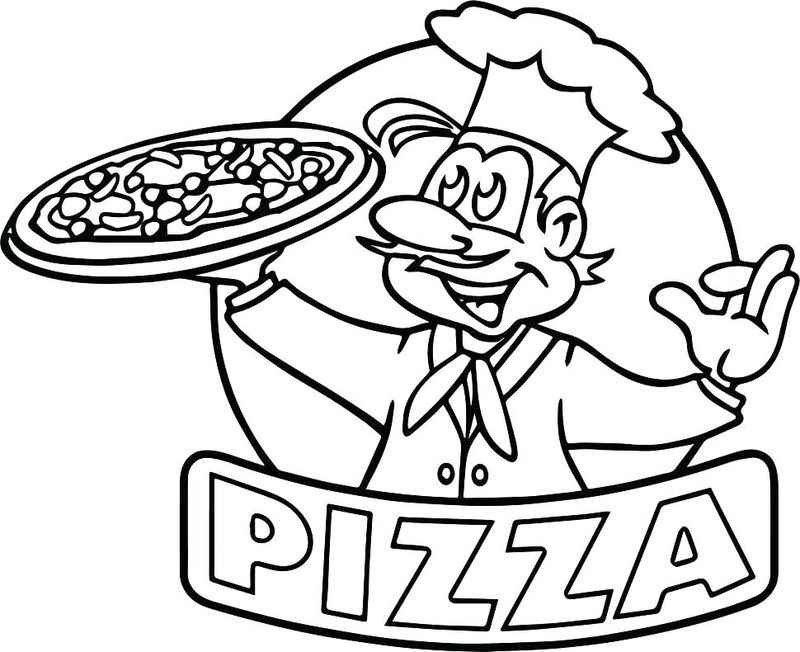 pizza colouring pages to print