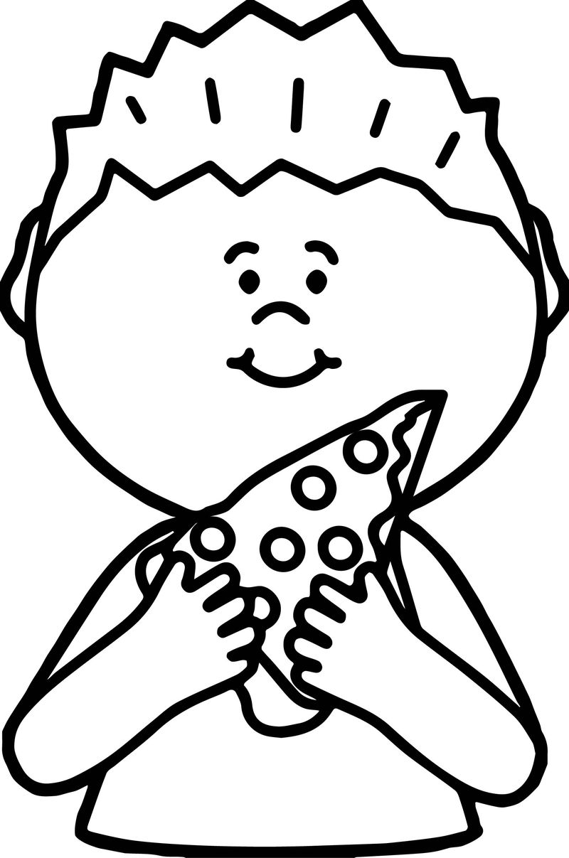 pizza delivery coloring pages