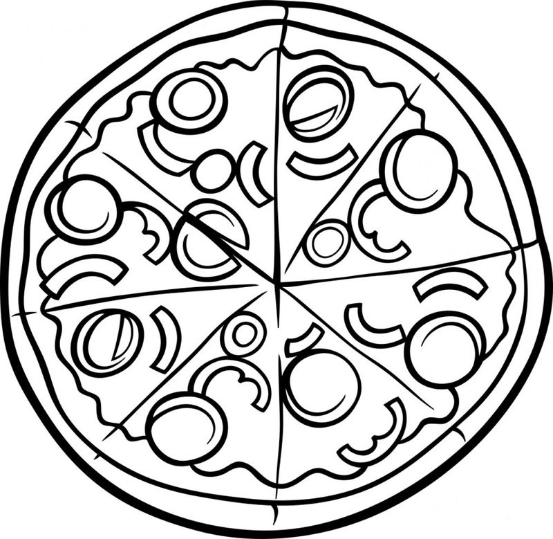 pizza emoji coloring pages