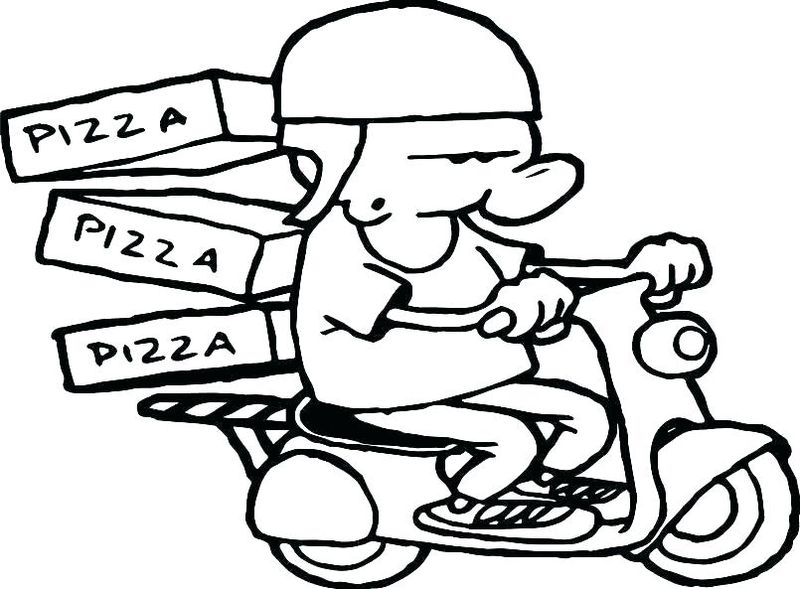 pizza ingredients coloring pages