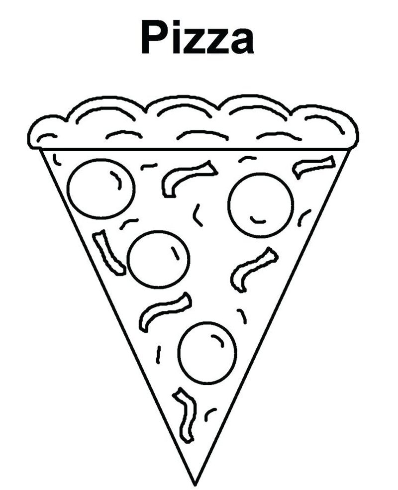 pizza slices coloring pages