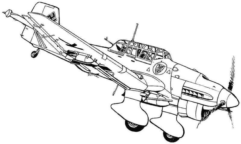 planes coloring page