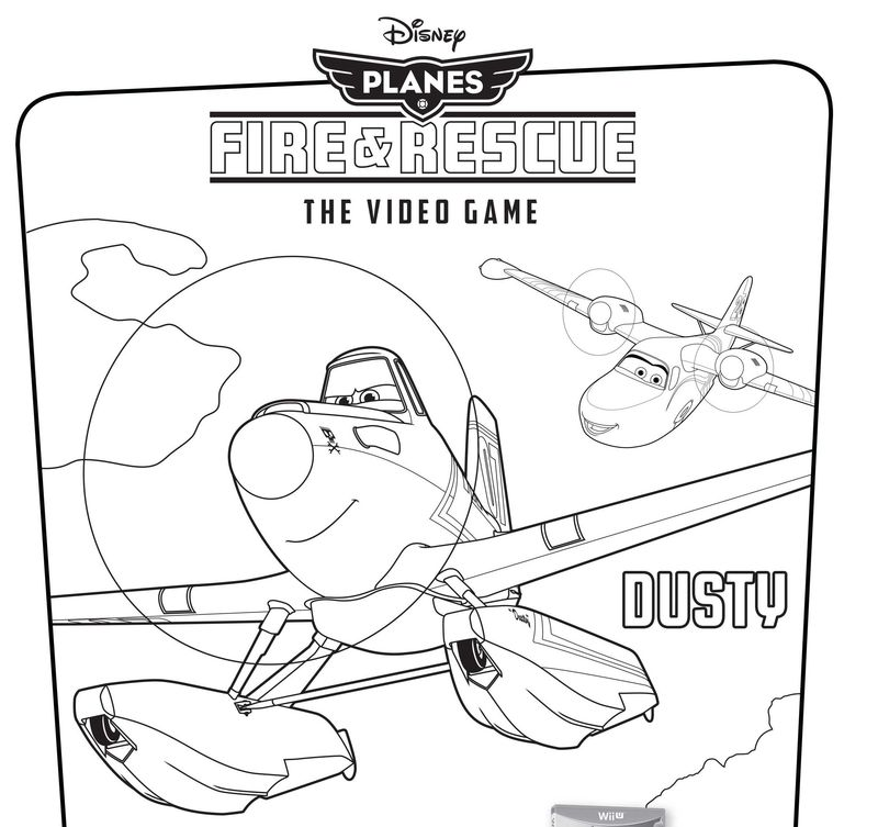 planes colouring in pages