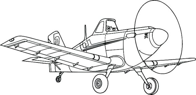 planes fire and rescue coloring page