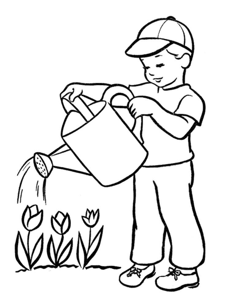 plant a tree coloring page printable