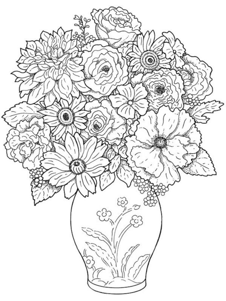 plant colouring pages printable