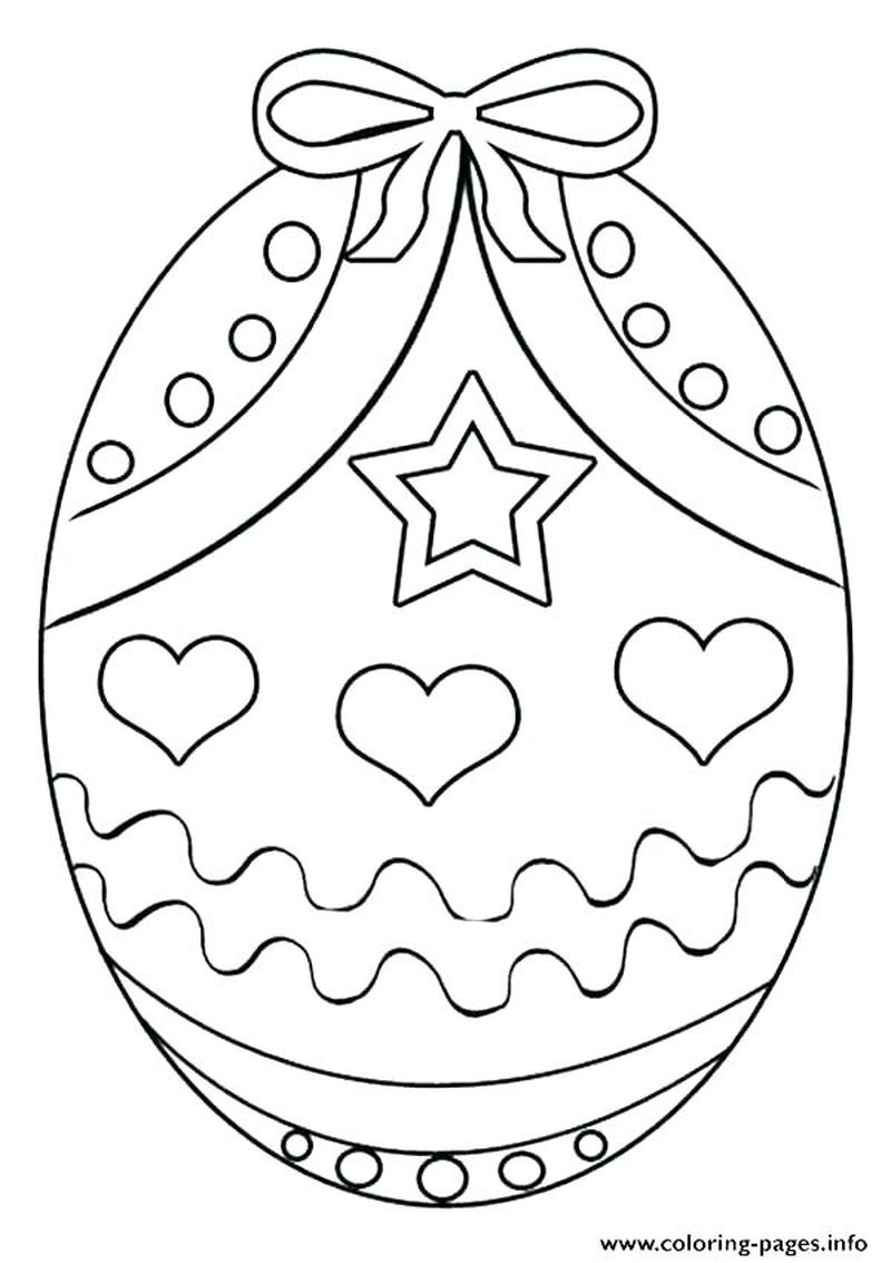 preschool easter egg coloring pages