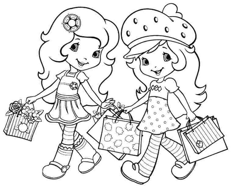 princes strawberry shortcake coloring pages