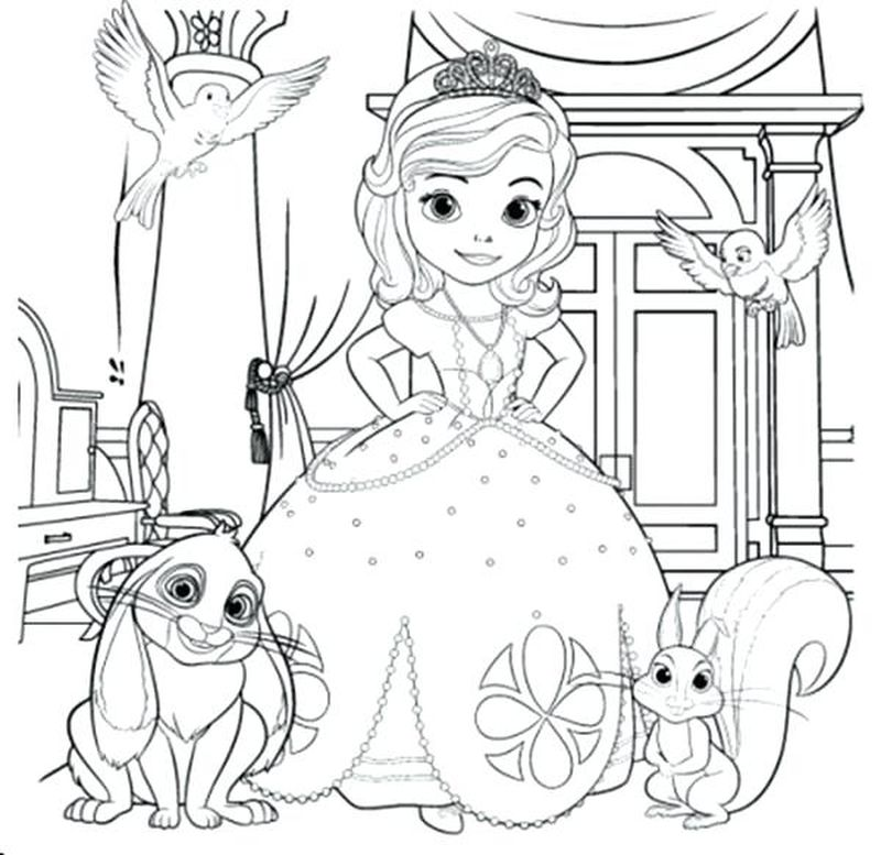 princess sofia coloring pages printable