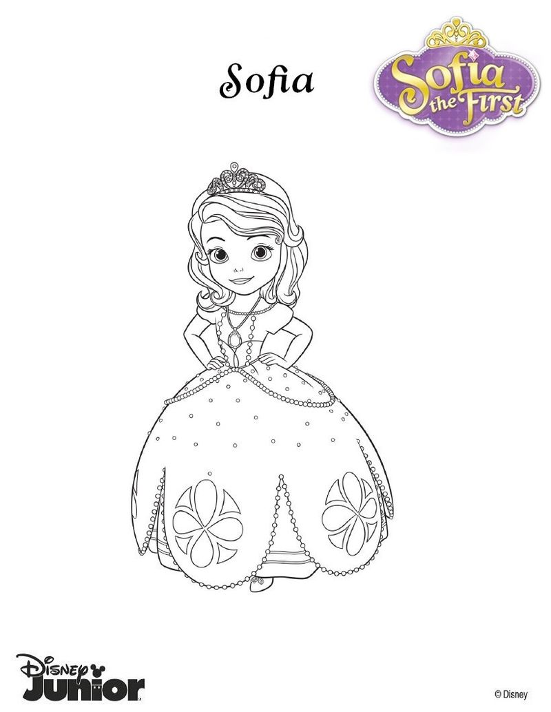 princess sophia coloring pages