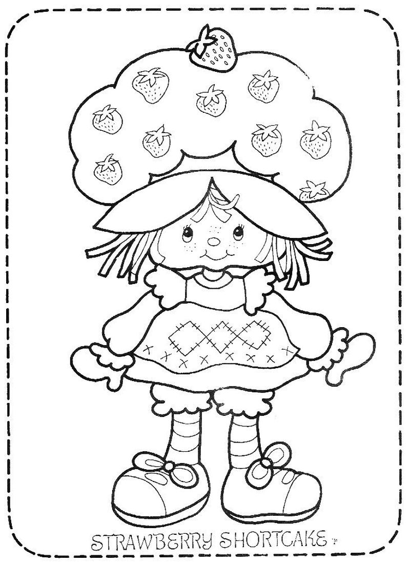 princess strawberry shortcake dresses free coloring pages