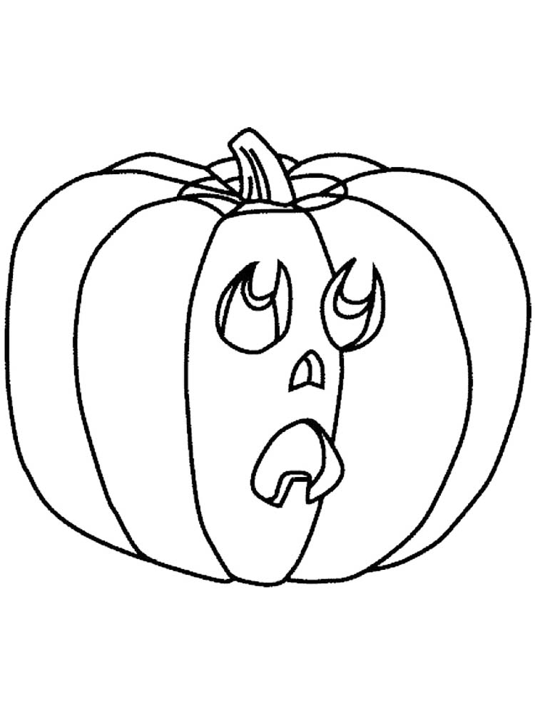 print jack o lantern colouring pages